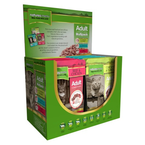 Natures Menu Adult Cat Multipack Pouches 12 X 100g