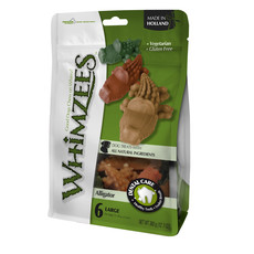 Whimzees Alligator 117mm Large Dental Dog Chew Treat Pack 6 Pack
