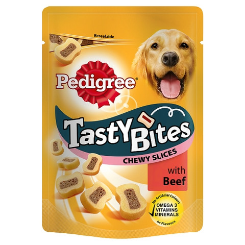 Pedigree Tasty Bites Chewy Slices With Beef Dog Treats 155g