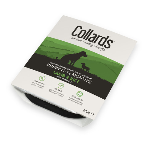 (d) Collards Hypo-allergenic Puppy Wet Tray With Lamb And Rice 10 X 400g