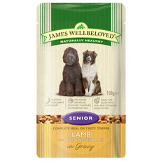 James Wellbeloved Senior Dog Pouch With Lamb, Rice And Vegetables In Gravy 10 X 150g