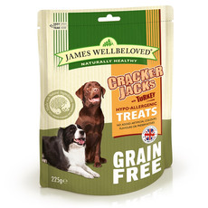 James Wellbeloved Turkey Grain Free Crackerjacks Dog Treats 6 X 225g