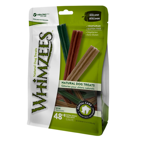 Whimzees Stix 80mm Extra Small Dental Dog Chew Treat Pack 56 Pack