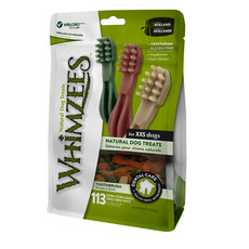 Whimzees Toothbrush 47mm Extra Extra Small Dental Dog Chew Treat Pack 113 Pack