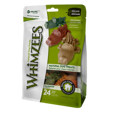 Whimzees Alligator 69mm Small Dental Dog Chew Treat Pack 24 Pack