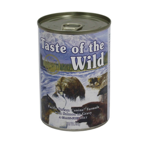 Taste Of The Wild Pacific Stream Canine Canned Wet Formula In Gravy 12 X 390g