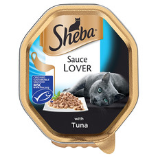 Sheba Sauce Lover Cat Trays With Tuna 22 X 85g
