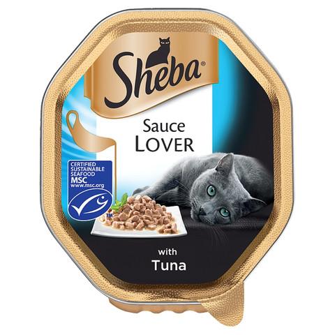 Sheba Sauce Lover Cat Trays With Tuna 22 X 85g