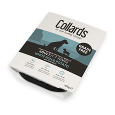 Collards Hypo-allergenic Grain Free Adult Dog Wet Tray With White Fish & Potato 10 X 400g