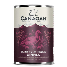 Canagan Turkey & Duck Dinner Grain Free Adult Wet Dog Food 6 X 400g