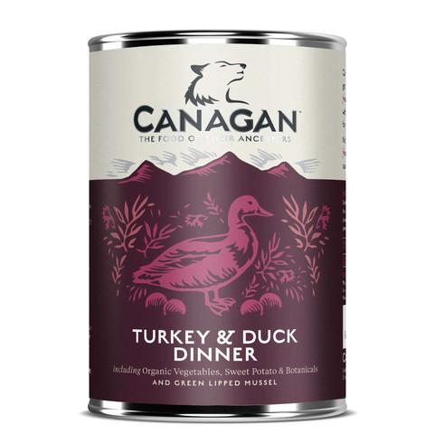 Canagan Turkey & Duck Dinner Grain Free Adult Wet Dog Food 6 X 400g