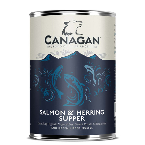 Canagan Salmon & Herring Supper Grain Free Adult Wet Dog Food 6 X 400g