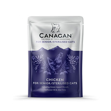 Canagan Chicken Senior Sterilised Grain Free Wet Cat Food 8 X 85g