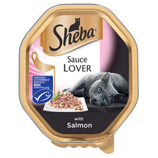 Sheba Sauce Lover Cat Trays With Salmon 22 X 85g