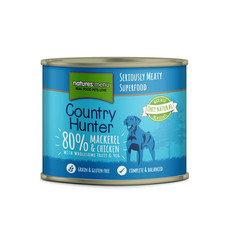 Natures Menu Country Hunter Mackerel & Chicken Grain Free Dog Food Cans 6 X 600g