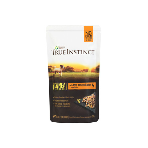 Natures Menu True Instinct High Meat Fillet Chicken Small Breed Dog Pouches 8 X 150g