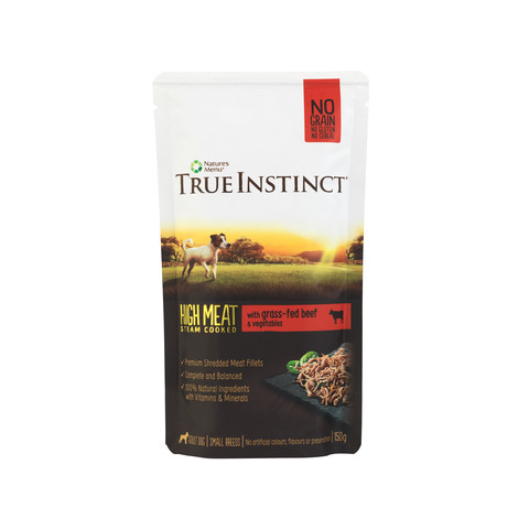 Natures Menu True Instinct High Meat Fillet Beef Small Breed Dog Pouches 8 X 150g