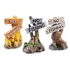 Classic Ornamental No Fishing Sign - Assorted Styles 3 Inch