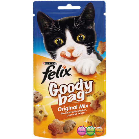 Felix Goody Bag Original Mix Cat Treats 60g