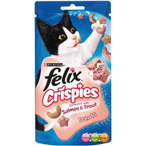 Felix Crispies Salmon And Trout Cat Treats 45g