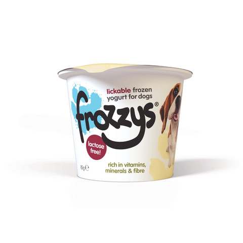 Frozzys Lickable Frozen Vanilla Yoghurt Treat For Dogs 85g