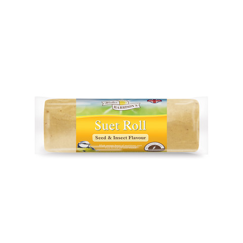 Walter Harrisons Wild Bird Suet Roll With Seeds And Insects 500g