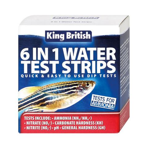 King British 6 In 1 Water Test Strips