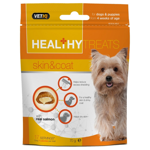Vetiq Healthy Treats Skin & Coat For Dogs & Puppies 70g