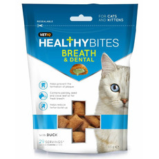 Vetiq Healthy Bites Breath And Dental Care Cat Treats 65g