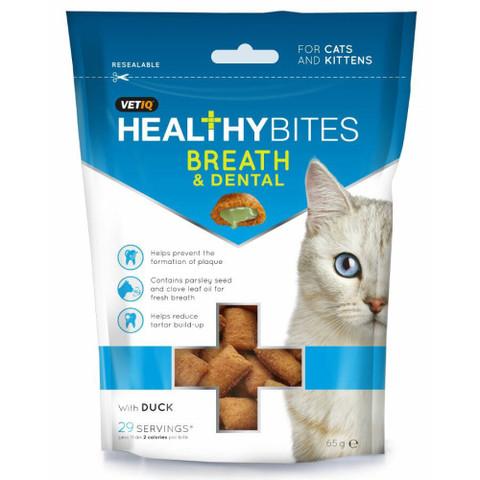 Vetiq Healthy Bites Breath And Dental Care Cat Treats 65g