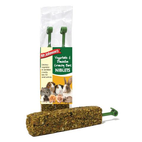 Mr Johnsons Vegetable And Dandelion Crunchy Bars Niblets 2 Pack