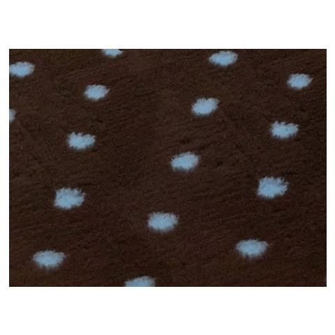 Pet Life Vetbed Dog & Cat Bedding In Brown & Blue Polka Dot 0.5mtr