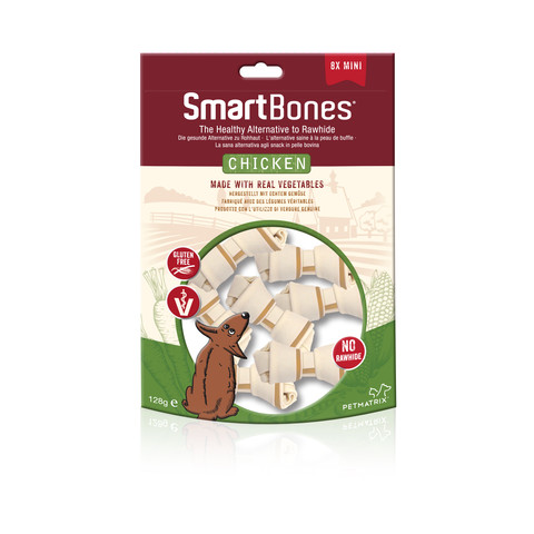Smartbones Mini Chicken Bone Chews For Dogs 8 Pack