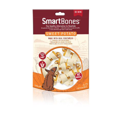 Smartbones Mini Sweet Potato Bone Chews For Dogs 8 Pack