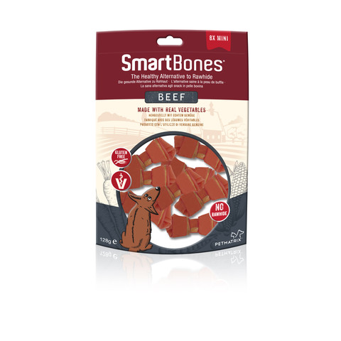 Smartbones Mini Beef Bone Chews For Dogs 8 Pack
