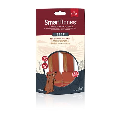 Smartbones Medium Beef Bone Chews For Dogs 2 Pack