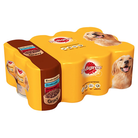 Pedigree Adult Dog Food Tins Mixed Meat Selection In Gravy 12x400g