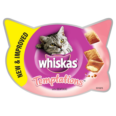 Whiskas Temptations Cat Treat With Seafood 60g