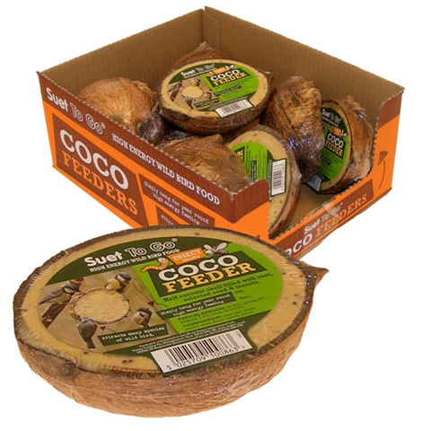 All Natural Coconut Feeder With Real Insects