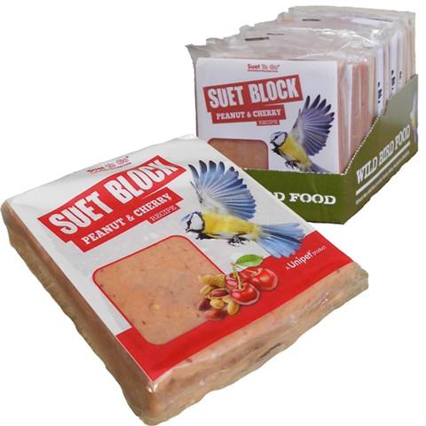 Unipet Suet To Go Peanut And Cherry Flavour Suet Block 300g