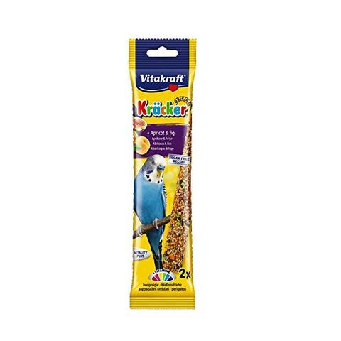 Vitakraft Kracker Budgie Stick Treats With Apricot And Fig 60g