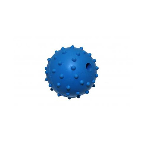 Happy Pet Rubber Studded Ball & Bell Dog Toy 2 Inch