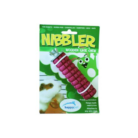 Happy Pet Fruit Flavoured Nibbler Wooden Cage Chew Large