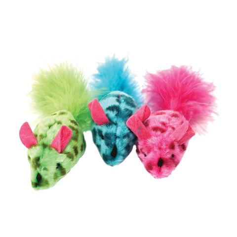 Happy Pet Festival Mice Feather Boa Cat Toy