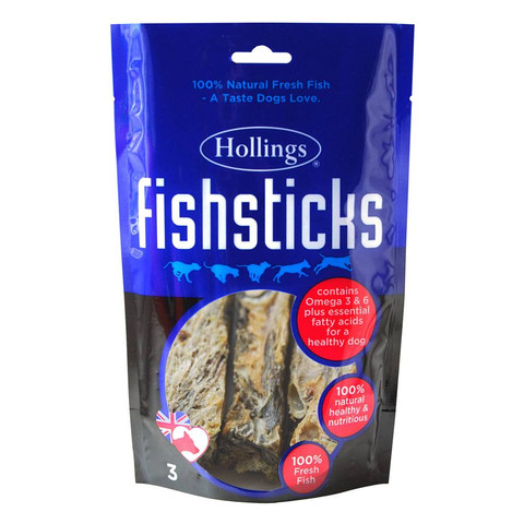 Hollings Fish Sticks Dog Treat 3 Pack