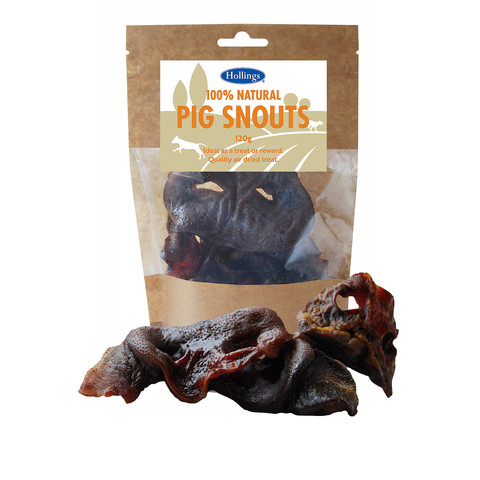 Hollings 100% Natural Pig Snouts Dog Treats 120g