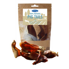 Hollings 100% Natural Pig Tails Dog Treats 120g