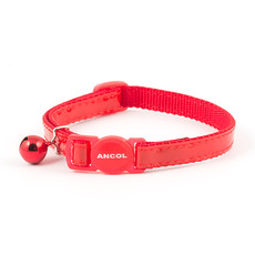 Ancol Reflective Red Gloss Cat Collar  Single