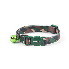 Ancol Green Camouflage Cat Collar  Single
