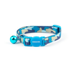 Ancol Blue Camouflage Cat Collar